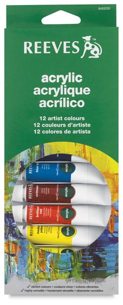 Set of 12 Colors, 10 ml Tubes