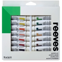Set of 18 Colors, 10 ml Tubes