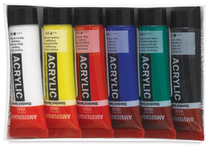 Amsterdam Acrylics, Set of 6 Colors