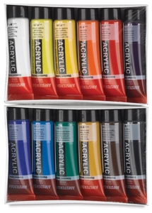 Amsterdam Acrylics, Set of 12 Colors