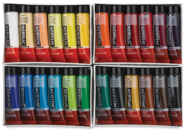 Amsterdam Acrylics, Set of 24 Colors