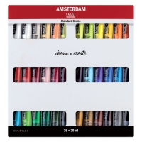 Amsterdam Acrylics, Set of 36 Colors