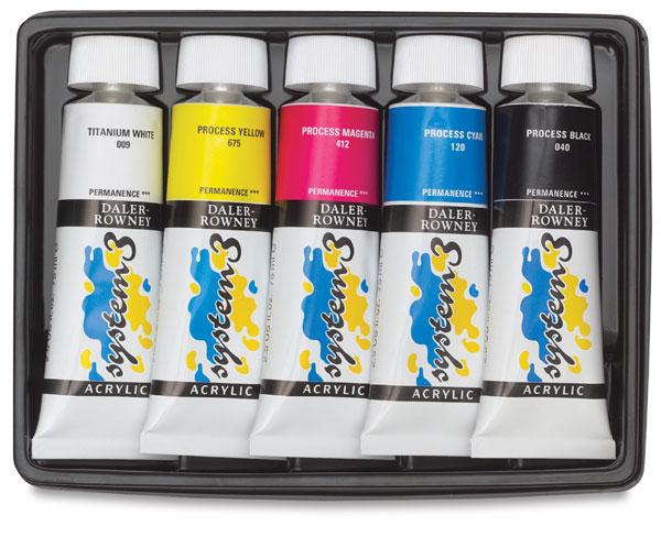 Process Set of 5 Colors