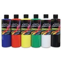 Chromacryl Acrylic Essentials, Set of 6, Primary Colors, Pints