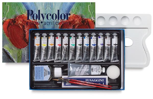 Maimeri Polycolor Vinyl Paint, Painting Set