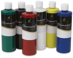 Chromacryl Student Acrylics, Primary, Set of 6