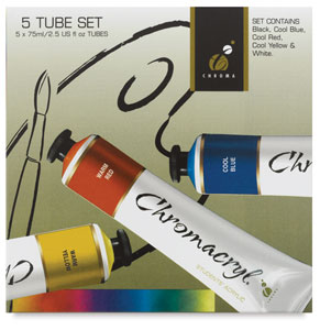 Chromacryl Student Acrylics, 5-Tube Set