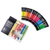 Liquitex Basics Acrylic, Set of 6 Fluorescent Colors