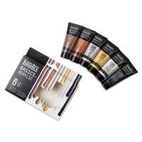 Liquitex Basics Acrylic, Set of 6 Metallic & Iridescent Colors