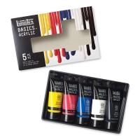 Liquitex Basics Acrylic, Set of 5, 2.5 oz (75 ml)