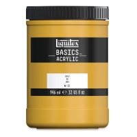 Liquitex Basics, Gold, 32 oz (stock is mixed, jar may vary)