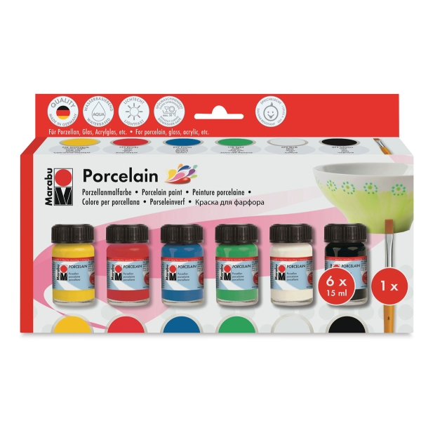 Marabu Porcelain Paint, Starter Set
