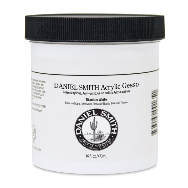 Acrylic Gesso, Titanium White, 16 oz