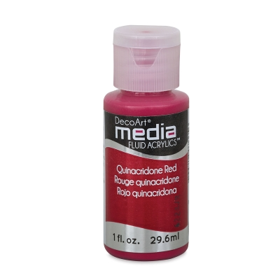 DecoArt Media Fluid Acrylic, Quinacridone Red