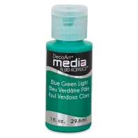 DecoArt Media Fluid Acrylic, Blue Green Light