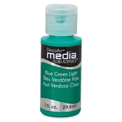 DecoArt Media Fluid Acrylic, Blue Green Light