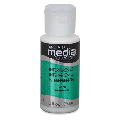 DecoArt Media Fluid Acrylic, Interference Green
