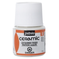 Pebeo Ceramic, White, 45 ml