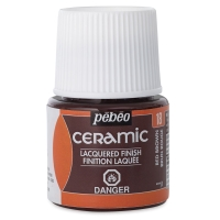 Pebeo Ceramic, Red Brown,  45 ml