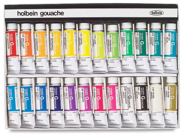 Designer Set of 24 Colors, 15 ml Tubes