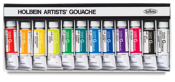 Designer Set of 12 Colors, 15 ml Tubes