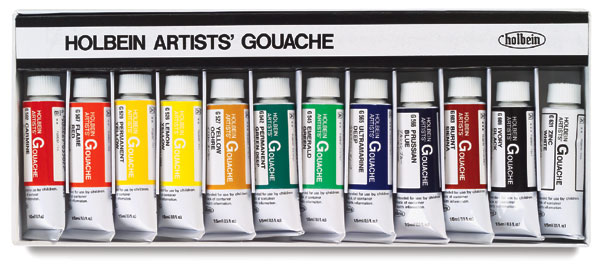 Artists' Set of 12 Colors, 15 ml Tubes