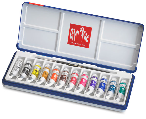 Set of 12 Colors with Brush