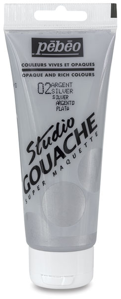 Silver (Metallic), 3.38 oz (100 ml) tube