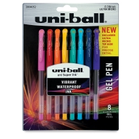 Uni-Ball Gel Pens, Set of 8