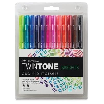 Tombow Twintone Dual Tip Marker Sets Blick Art Materials
