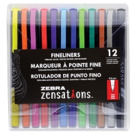 Zensations Fineliner Pens, Set of 12