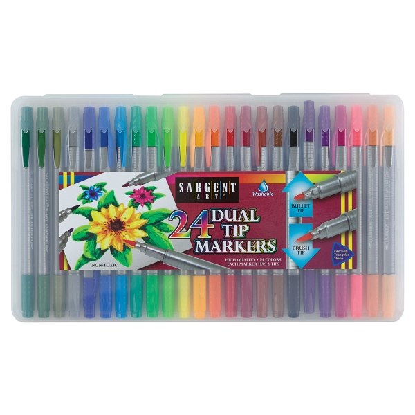 Dual Tip Markers, Set of 24