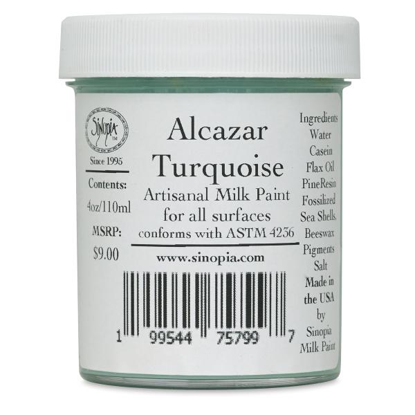 Sinopia Artisanal Milk Paint, Alcazar Turquoise