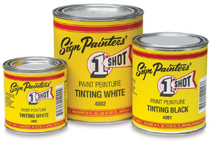 1-Shot Tinting White and Black