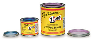 For sign painters' interior or exterior use on metal, glass, wood or masonite. Shade and tint without affecting properties of base coatings. Great for covering. No brush marks, extremely durable. - Sets of 12