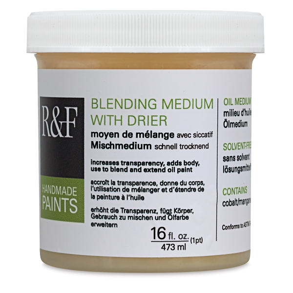 Blending Medium with Drier, 16 oz Jar