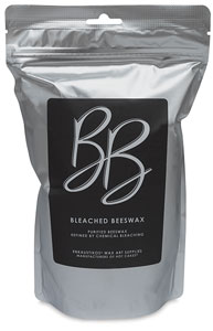 Bleached Beeswax, 16 oz Bag