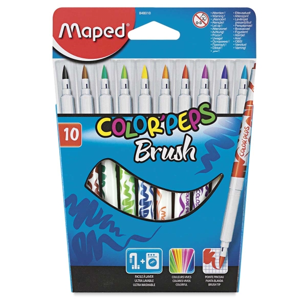 Brush Markers, Set of 10
