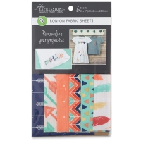 Iron-On Fabric Sheets, Pkg of 6Feathers and Arrows