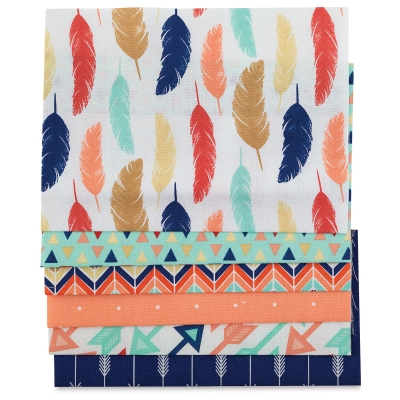 Iron-On Fabric Sheets, Pkg of 6<br/>Feathers and Arrows