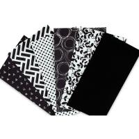 Iron-On Fabric Sheets, Pkg of 6Black and White