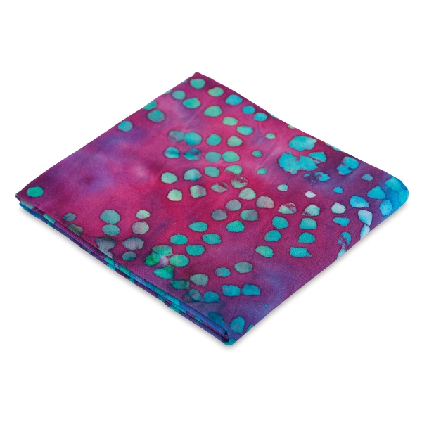 Half Yard, Batik Purple with Blue Dots
