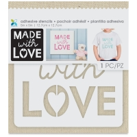 Adhesive Fabric Stencil, Made with Love