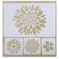 Adhesive Fabric Stencil, Flowers