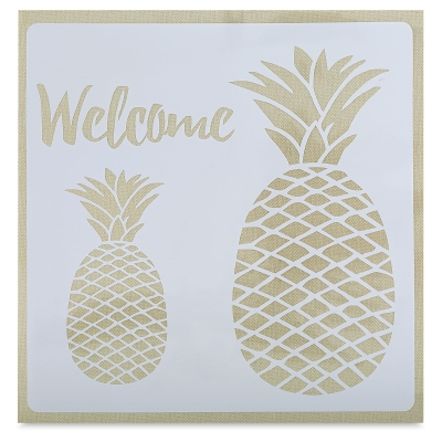 Adhesive Fabric Stencil, Pineapples