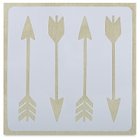 Adhesive Fabric Stencil, Arrows