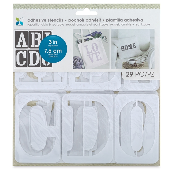"Adhesive Fabric Stencil, Serif Uppercase Alphabet, 3"""