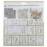 "Adhesive Fabric Stencil, Serif Uppercase Alphabet, 1-3/8"""