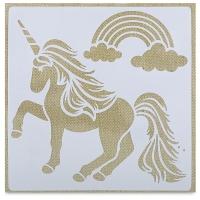 Adhesive Fabric Stencil, Unicorn