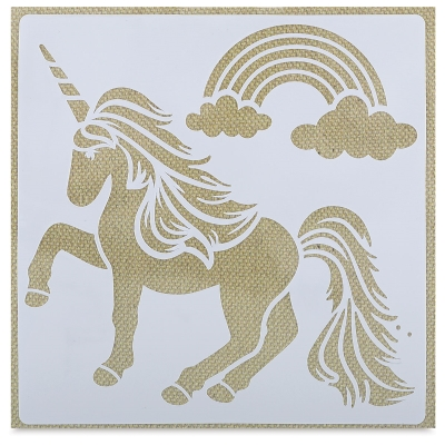 Adhesive Fabric Stencil, Unicorn